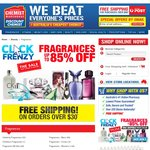 Chemist Warehouse FRENZY Sale Upto 85% off Fragrances w/Free Shipping over $30 Spent