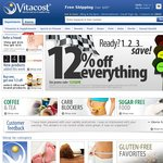 Everything 12% OFF at Vitacost