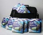 "11 X Olin 512MB Voice Recorders PACKED into an Lapel LMB -103 15-17"" Laptop Bag $49 Inc Shipping"