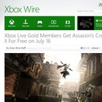 [Xbox 360] Assassin's Creed II - Free for Gold Members from 16th July