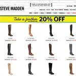 Steve Madden - Further 20% off Sale + Shipping