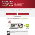 Free Spotify Premium for 12 Months if You Subscribe to The Times Digital Pack (£6 a Week)