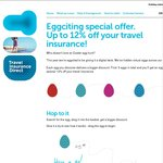 Up to 12% off Travel Insurance