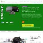 Xbox One Limited Edition Call of Duty: Advanced Warfare Bundle. Pre-Order for $599