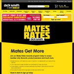 FREE $10 Dick Smith Coupon (Min. $50 Spend) for Signing up to Mates Rates In-Store