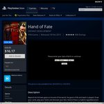 PSN Sale - Hand of Fate - $16.17 (Was $26.95)