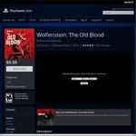 Wolfenstein: The Old Blood PS4 $9.99 USD ($13.70 AUD)  on PSN -  US PSN required