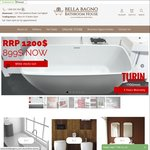 10% off Toilets, Vanities and Bathtubs Only for OzBargainers @ Bella Bagno