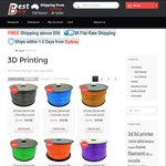 3D Printer Filaments ABS and PLA 1.75mm 1KG Roll, 15 Colours Available, ABS=$19, PLA=$20, $6 Delivery @ Bestbay.com.au