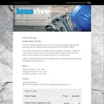 Free Tickets to The Sydney Home Show at Olympic Park (28 to 30 October)