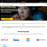Data Free Netflix, Presto, Stan, ABC/Kids iView (Mobile TV Streams) for Eligible Optus Customers On Select Plans