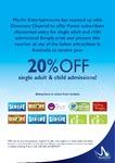 20% off Single Adult & Childs Tickets to Merlin Entertainment Venues: Sydney Aquarium, Wildlife, Madam Tassaud's, Tower Eye etc
