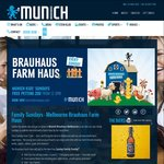 Kid's Eat Free with Paying Adult @ Munich Brauhaus (Sundays) [South Wharf VIC]