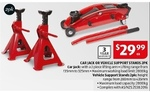 Car Jack or Vehicle Support Stands 2pk $29.99 ea @ ALDI (11 March)