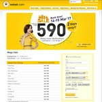 Nok Air Mega Sale (FLASH SALE) - Fly Domestic inside Thailand Departing from Bangkok (Don Muang) from THB590 (~A$22.25) One Way