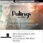 Bose Soundtouch 300 + Sub Woofer for $1669 with Free Shipping (RRP $2000) @ Pailings Audio