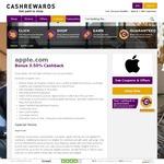 Get 3.5% Double Cashback at Apple from Cashrewards
