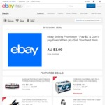 eBay Selling Promotion - Pay $1 and Don't Pay Fees When You Sell Your Next Item