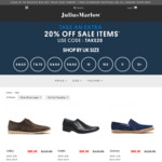 Extra 20% off Sale Items on Julius Marlow Website. Use Code: TAKE20