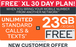 FREE Kogan Mobile Prepaid Voucher Code: Bring Your Own Number - XL (30 Days | 23GB)