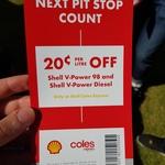 [VIC] 20c/L off V-Power 98 & V-Power Diesel Coles Express Voucher @ Australian Grand Prix (Albert Park - Physical Voucher Reqd)