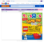 Buy 1 and Get 50% off The Second Item on LEGO @ Toys R Us