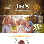 Jim's Jerky Mother's Day Deal 25% off Online & Instore