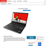 "Lenovo ThinkPad E480 Laptop $1075 - 14"" FHD, i7-8550U, 8GB DDR4, 256GB SSD, RX 550 2GB Gfx"