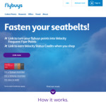 20% Bonus Point When You Transfer Flybuys Points to Velocity Points + 2 Lounge Passes with Transfers >100,000 @ Flybuys