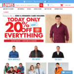20% off Everything @ Lowes