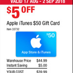 20% off Apple iTunes $50 Gift Card for $39.99 @ Costco (Membership Required)