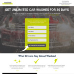 [VIC] $25 for 1 Month of UNLIMITED Car Washes @ WashedCar (Camberwell)