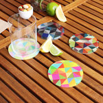 Designer Coasters - Set of 4 $9.99 (Was $29.99) + Free Shipping by Neon Pear