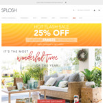 25% off Sitewide (Free Standard Shipping over $75) @ Splosh