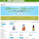 11% Off Supplements + 11% Loyalty Credit @ iHerb