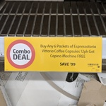Buy Any 6 Packets of Espressotoria Vitorria Coffee Capsules 12pk, Get a Capino Coffee Machine Free @ Coles