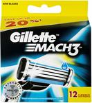 [Back-Order] Gillette Mach3 Razor Blades Refill 12pk $19.69 (Was $31) + Delivery (Free with Prime/ $49 Spend) @ Amazon AU