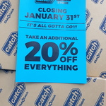 [VIC] Additional 20% off Everything @ Catch (Pop-up Cadstone Store)