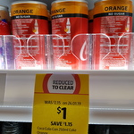 [NSW] Coca Cola No Sugar Orange 250ml Can $1 @ Coles, Chatswood Westfield