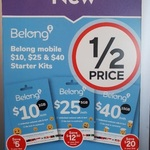 Belong SIM Starter Kits Half Price - $40 for $20, $25 for $12.50 & $10 for $5 @ Caltex Star Mart