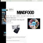 Win 1 of 3 Carrol Boyes Tote Bag and Pouch Set Worth $105 from MiNDFOOD