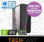 "Gaming Computer: Intel i5 9400F RTX 2070 8GB 120GB SSD $1119.60, 24"" Bundle $1218.60, 27"" Bundle $1263.60 @ TechFast eBay"