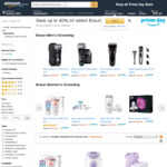 [Amazon Prime] up to 63% off RRP Braun Male and Female Hair Removal Products (7840s $199.99) Delivered @ Amazon AU