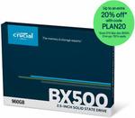 [eBay Plus] Crucial BX500 SSD 960GB $115.60 Delivered @ Futu Online eBay