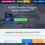 [PC] Free AOMEI Partition Assistant Professional Edition Version 8.4 (Was $39.95 USD) @ AOMEI