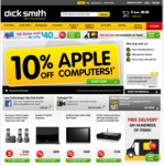 10% offfffffff Apple at DickSmith (Again) - Excludes iPad + BTO (I Would Think)