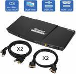 Tesmart Dual Monitor KVM Switch Extend Desktop - $173.76 Delivered (Was $193.76) @ TESmartAustralia via Amazon AU