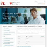 Free Short Course - Managing in a VUCA World @ IT Masters (Charles Sturt University)