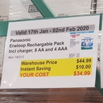 Panasonic Eneloop Rechargeable Pack (Charger, 8x AA, 4x AAA Battery) $34.99 @ Costco (Membership Required)