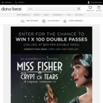 Win 1 of 100 Double Passes to Miss Fisher and The Crypt of Tears from Diana Ferrari